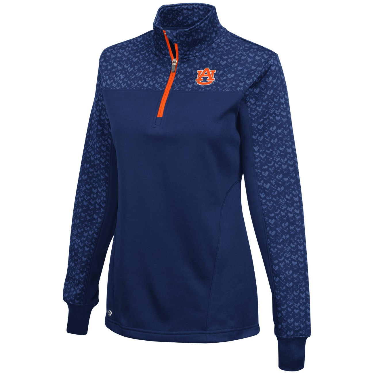 "Auburn Tigers Women's NCAA ""Burst"" 1/4 Zip Pullover Sweatshirt"
